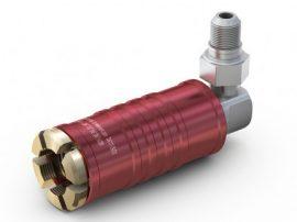 Gyorscsatlakozó WEH TW111 90° Piros