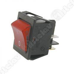 Kapcsoló beépíthető univerzális 22 x 30mm (piros)