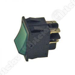 Kapcsoló beépíthető univerzális 22 x 30mm (zöld)
